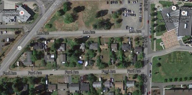 Rare Parksville Lot – 136 Lee Ave – only be $199,900 +GST.