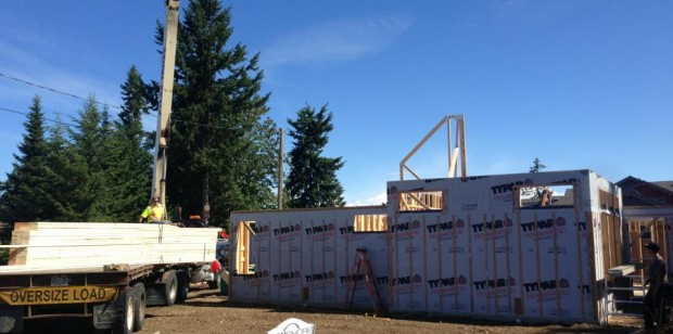 Truss's arrive at the Goodinson Residence in Parksville